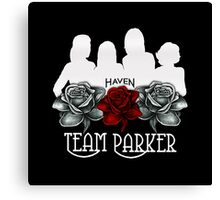 Haven Team Parker Sides Of Audrey White Logo Canvas Print