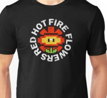 Red Hot Fire Flowers Unisex T-Shirt