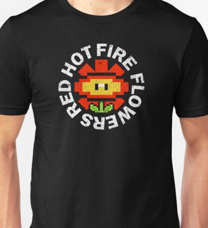 Red Hot Fire Flowers Unisex T-Shirt