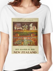 Vintage poster - Rotorua Women's Relaxed Fit T-Shirt
