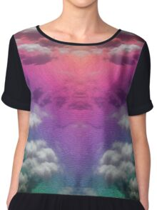 Ocean Rainbow - Side by Side Chiffon Top