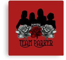 Haven Team Parker Sides Of Audrey Black Logo Canvas Print