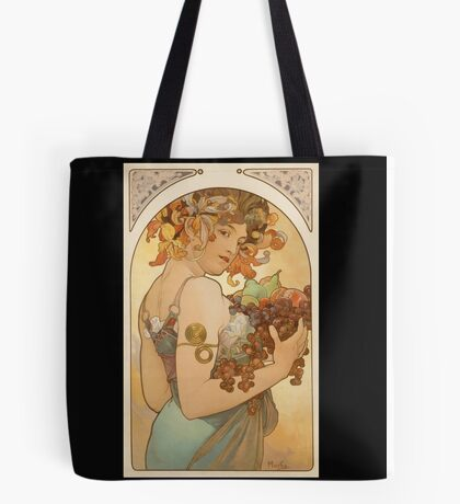 'Fruit' by Alphonse Mucha (Reproduction) Tote Bag