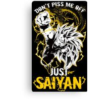 Super Saiyan Goku Shirt - RB00036 Canvas Print