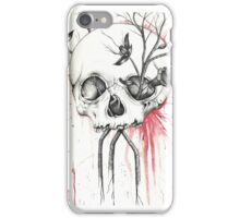 Pomegranate Skull  iPhone Case/Skin