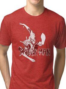 Spider-Man • Mid Air Spider! Tri-blend T-Shirt