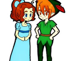 Peter Pan and Wendy by TentacleKisses