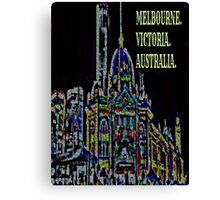 MELBOURNE Canvas Print