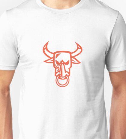Bull Cow Head Nose Ring Cartoon Unisex T-Shirt
