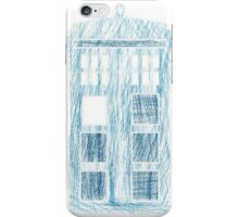 TARDIS scribble iPhone Case/Skin