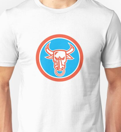 Bull Cow Head Nose Ring Circle Cartoon Unisex T-Shirt