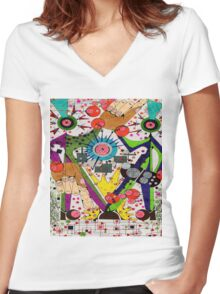 Hey You! Women's Fitted V-Neck T-Shirt