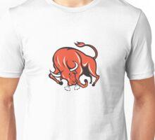Angry Bull Charging Cartoon Unisex T-Shirt