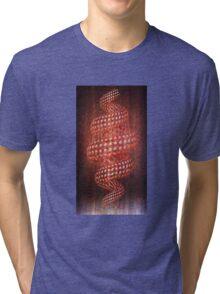 Spiral Flowers Tri-blend T-Shirt