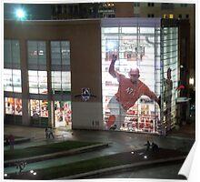 MLB Cincinnati Baseball Stadium/Museum at Night Photo Poster