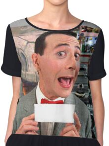 Pee Wee Herman - Write Your Own Chiffon Top