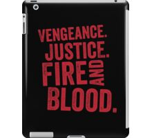 Vengeance Justice Fire and Blood iPad Case/Skin
