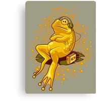 FROGGIE IN RELAX MODE Canvas Print