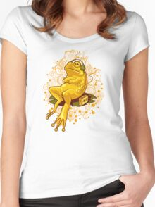 FROGGIE IN RELAX MODE Women's Fitted Scoop T-Shirt