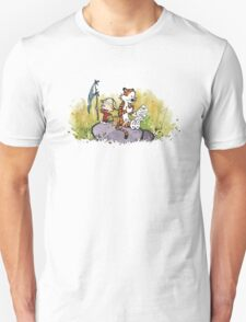 Calvin And Hobbes mapping Unisex T-Shirt