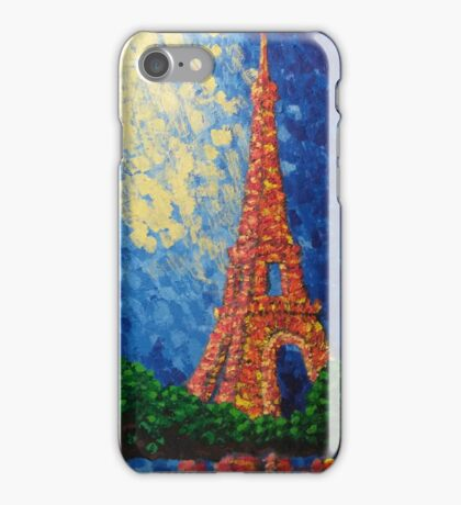 Eiffel Tower in Color iPhone Case/Skin