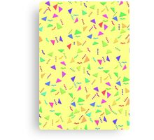 Confetti on Yellow (pattern) Canvas Print
