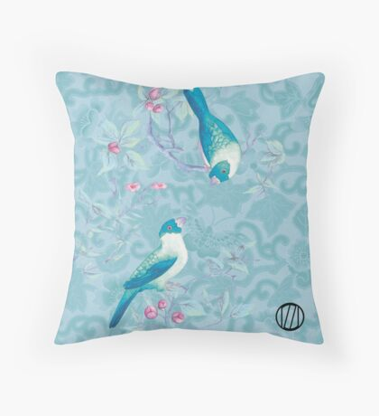 Oiseaux amoureux - Birds in love Throw Pillow