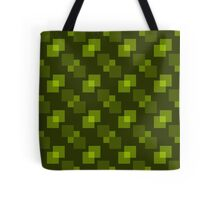 Square Pattern Designs: Yellow Green Tote Bag
