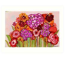 """""""Bouquet"""" - Colorful, unique artist's original design! Art Print"""