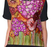 """""""Bouquet"""" - Colorful, unique artist's original design! Chiffon Top"""