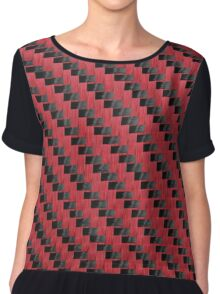 RED CARBON FIBER PRODUCTS  Chiffon Top