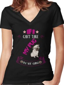 i'm not going  Women's Fitted V-Neck T-Shirt