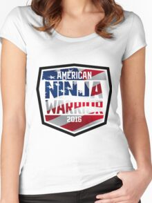 AMERICAN NINJA WARRIOR 2016 USA FLAG Women's Fitted Scoop T-Shirt