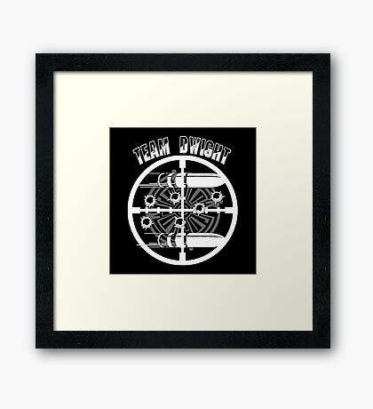 Haven Team Dwight Bullet Magnet White Logo Framed Print