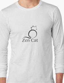 Zen Cat with Zen Symbol Long Sleeve T-Shirt