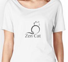 Zen Cat with Zen Symbol Women's Relaxed Fit T-Shirt