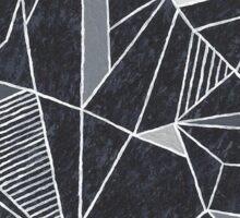 Geometric Black Heart Sticker