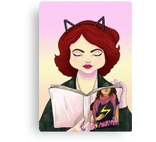 Girls read comics too! Ms M a superhero Canvas Print