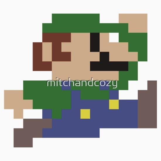 Baby Luigi Pixel Art Luigi Jumping Pixel Art by