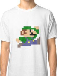 Luigi jumping - pixel art Classic T-Shirt