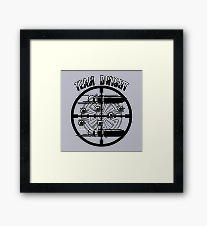 Haven Team Dwight Bullet Magnet Black Logo Framed Print