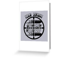 Haven Team Dwight Bullet Magnet Black Logo Greeting Card