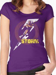 Varsity Storm •X-Men Marvel Women's Fitted Scoop T-Shirt