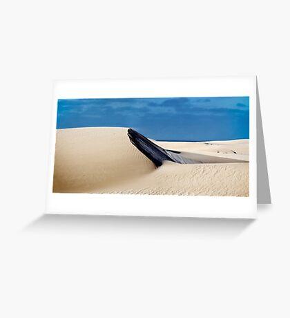 Dune at Fowlers Bay, South Australia.  Greeting Card