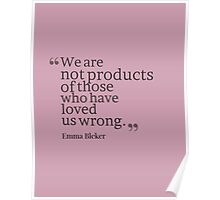We Are Not Products Design Poster