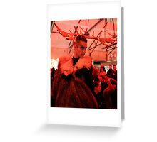 Dark Mofo Winter Feist 2014 Reindeer man  Greeting Card