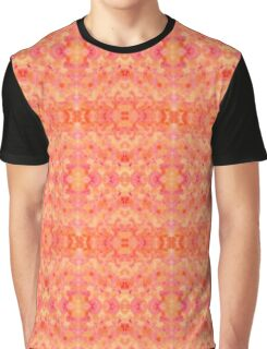 Hand-Painted Abstract Watercolor in Orange Tangerine Graphic T-Shirt