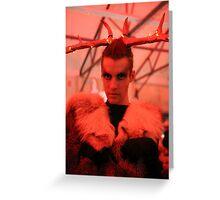 Dark Mofo Winter Feist 2014 Reindeer man 5 Greeting Card