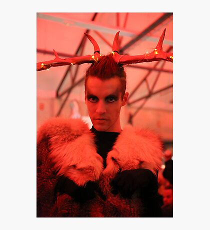 Dark Mofo Winter Feist 2014 Reindeer man 5 Photographic Print