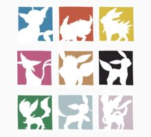Eeveelutions 3x3 (Cutout) by rK9nation
